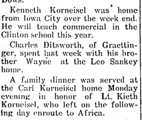 1955 Aug 31 Kenneth Korneisel teaching Keith Korneisel africa -