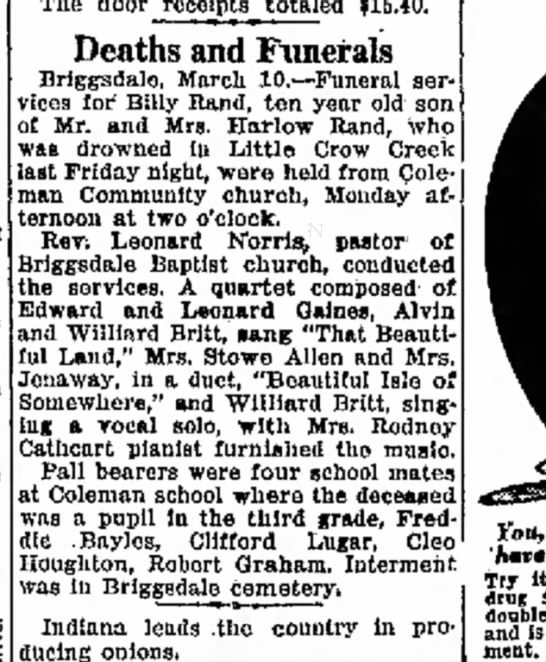 clifford lugar pall bearer 10,mar 1932 -