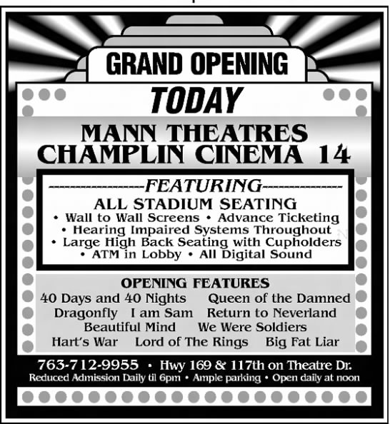 Champlin Cinema 14 opening -