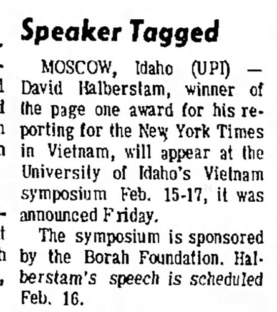 Vietnam Symposium in Moscow in Feb 1968 -