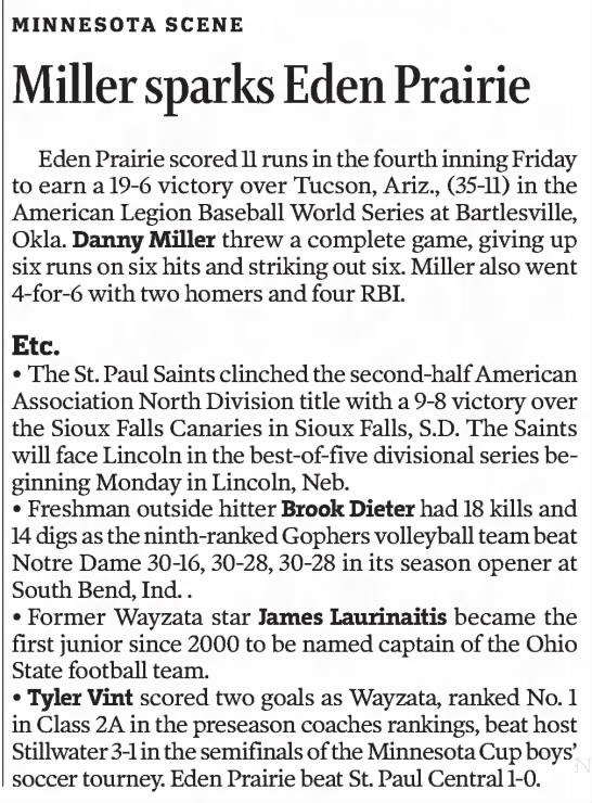 Miller Sparks Eden Prairie -