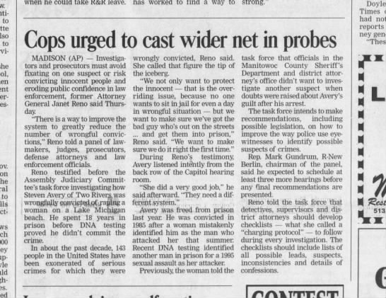 avery apr 23 2004 spj - when he could take R&R leave. Cops urged to...