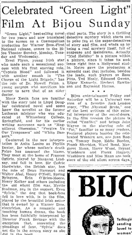 Myrtle Stedman Xenia Daily Gazette OH 13 Mar 1937 -