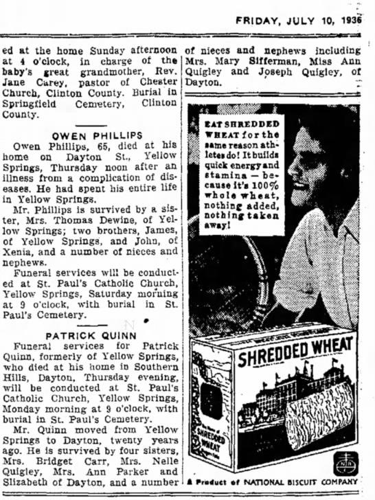 - FRIDAY, JULY 10, 1936 ed at the home Sunday...