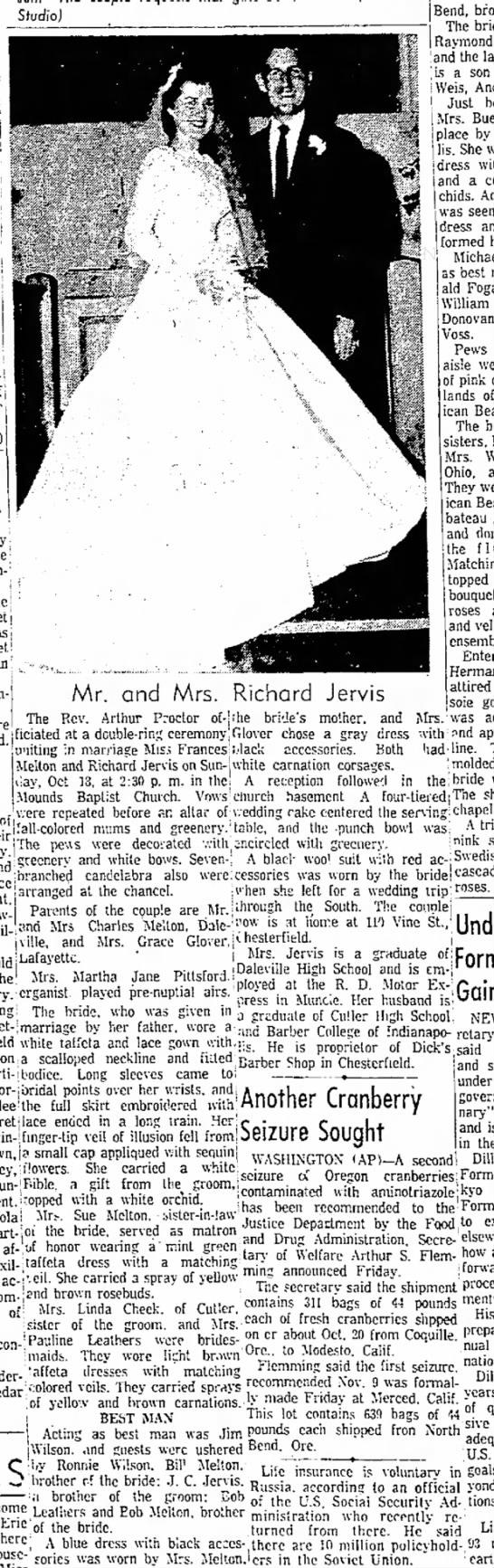 Richard Jervis November 14 1959 Anderson Herald -
