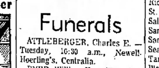 funeral 1958 -