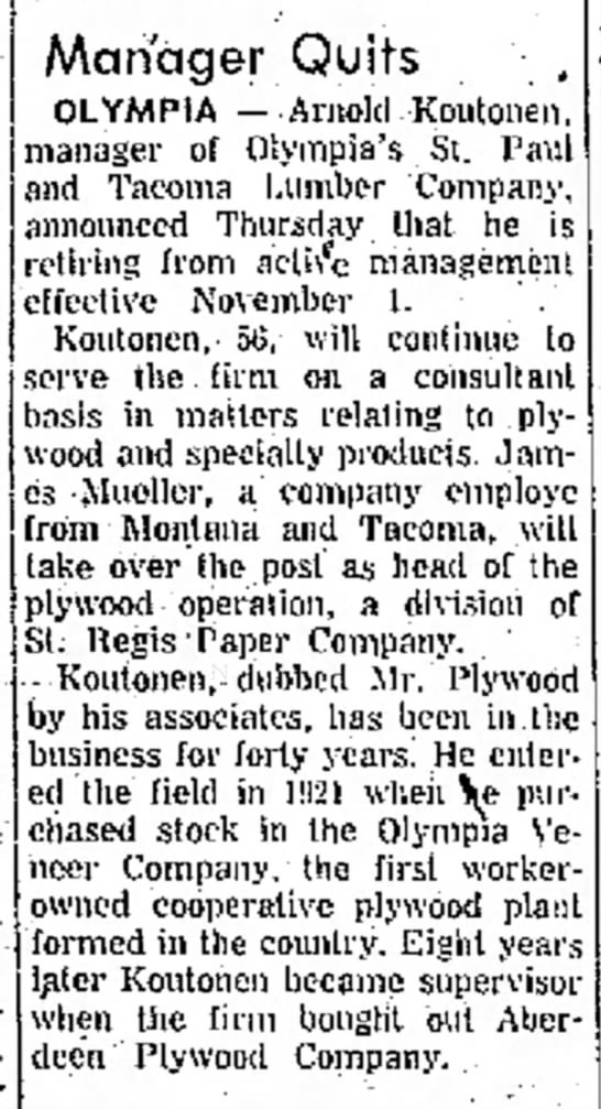 S.P. and T. Lumber Co.