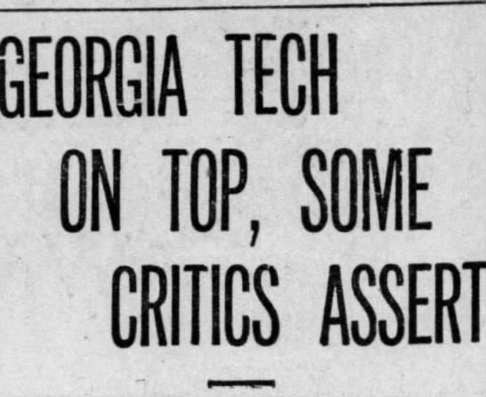 - GEORGIA TECH ON I0P, SOME CRITICS ASSERT