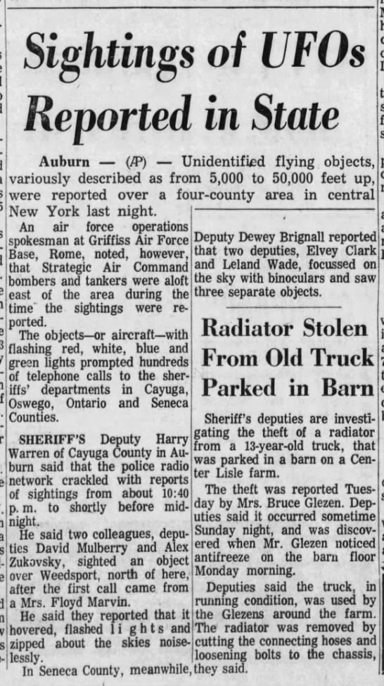 1966 March 30 police report UFOs NY - Newspapers com