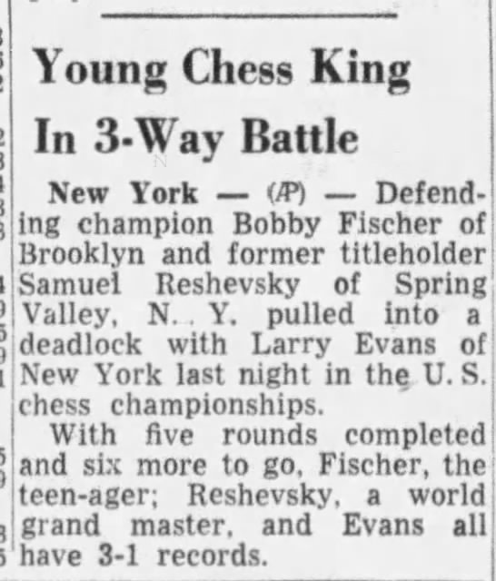 Young Chess King In 3-Way Battle -