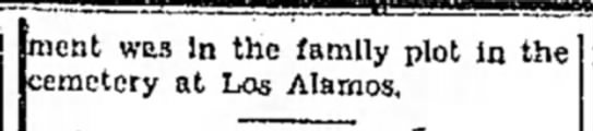 Rosario Abeyta Obit cont'd 21 Aug 1933 Las Vegas Optic -