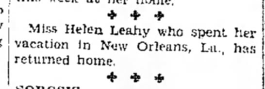 Helen Leahy in New Orleans 