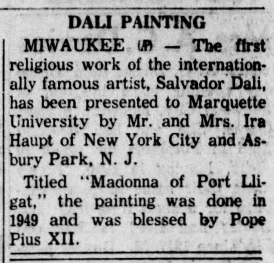 - , DALI PAINTING MIWAUKEE ,.U) The first...