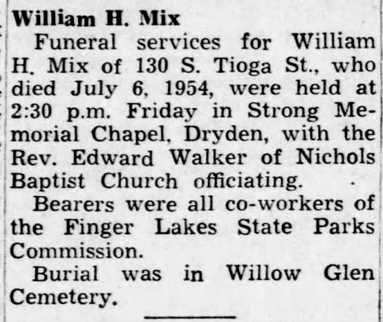 Obituary for William H  Mix - Newspapers com