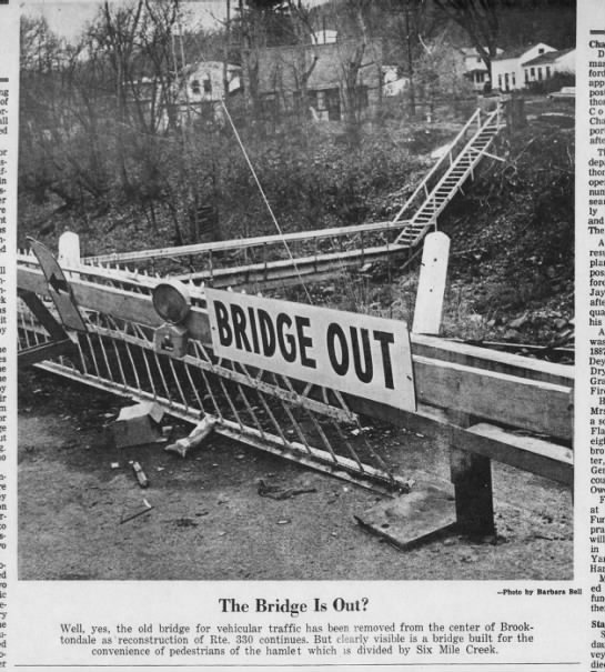 330 Bridge out, November 10, 1965 -