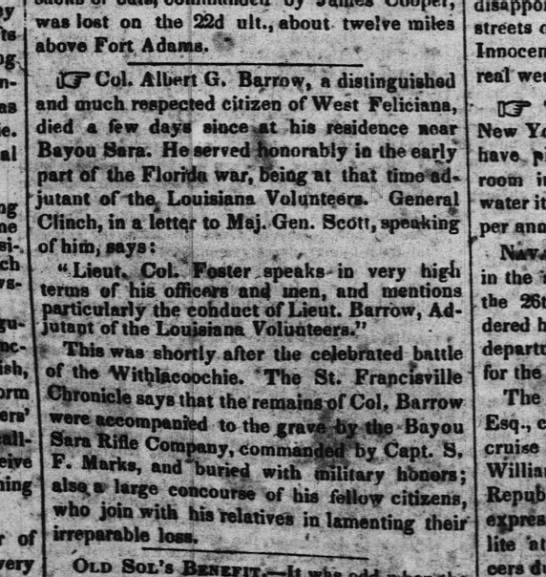 Times-Picayune 8-3-1842 -