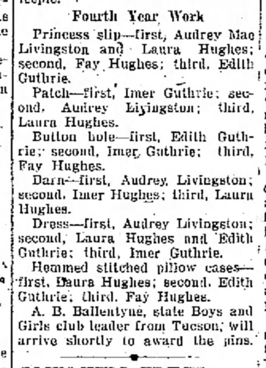 Edith and Imer Guthrie 1925 -