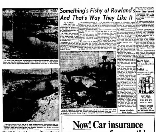 Something's Fishy at Rowland's article Idaho State Journal Jan 17, 1967 -
