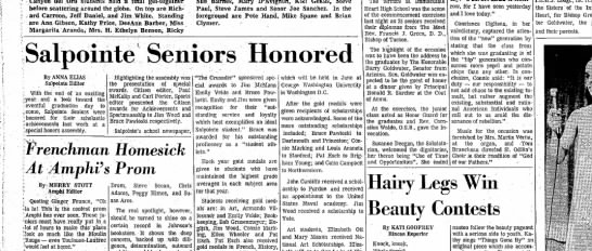 Salpointe Seniors '69 Honored 5/28/1969 -