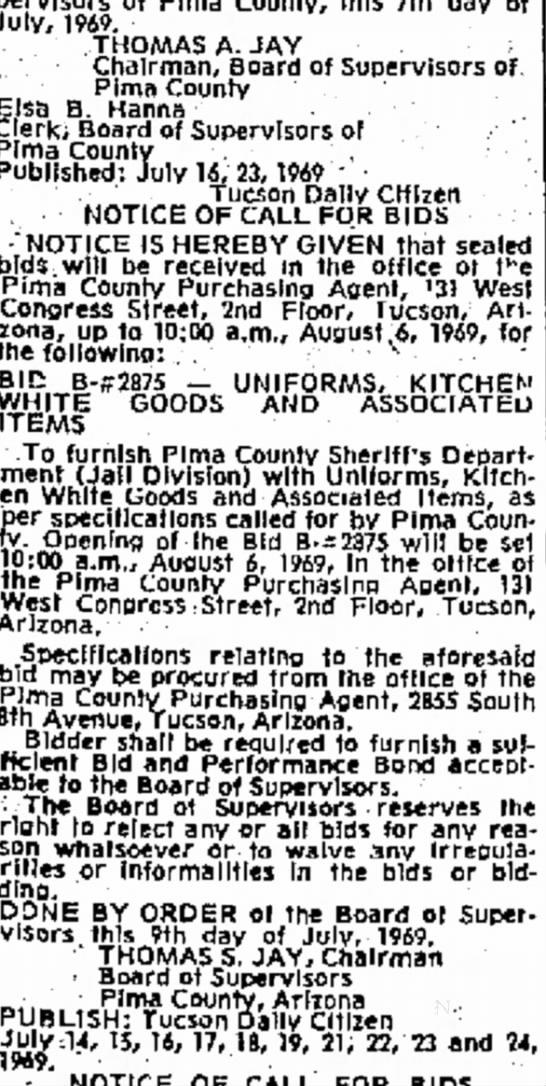 1969 Uniform Bid -