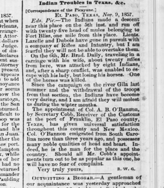 The Times-Pacayune, New Orleans, 3 Dec 1857, pg. 1 -