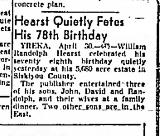 WR's 78th birthday -