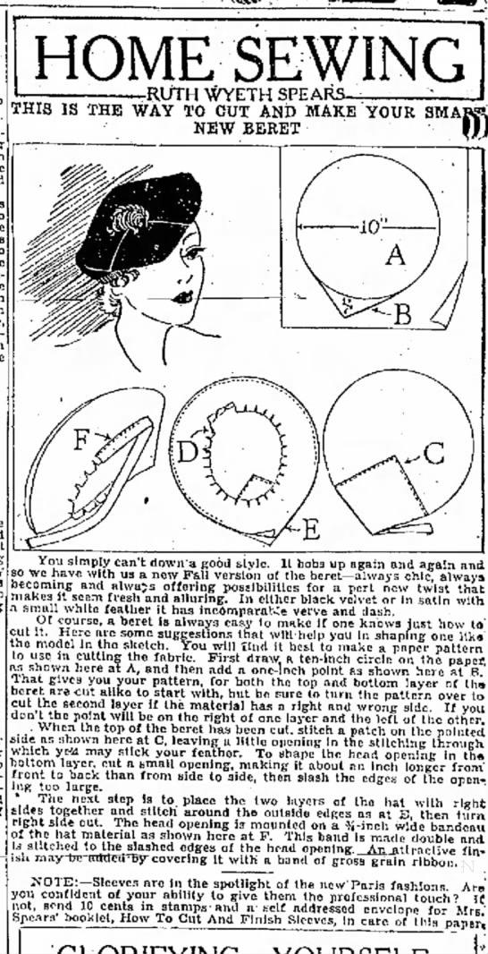 3 sept 1934 rws beret -