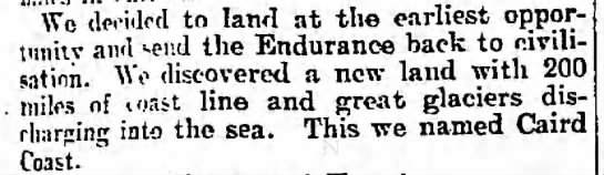 Shackleton's crew spots the coast of the Antarctic continent -