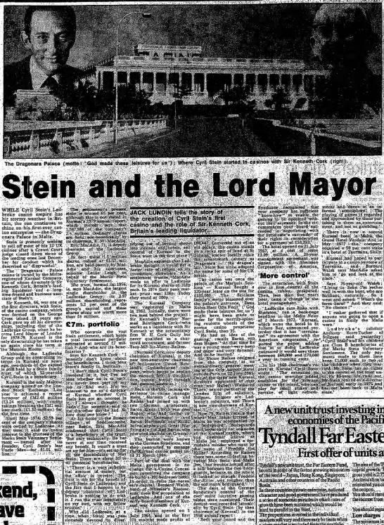 Stein and the Lord Mayor -