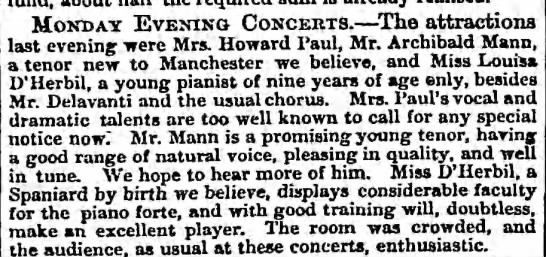 Monday Evening Concerts, The Guardian, London, England, 23 February 1858, p 3 -