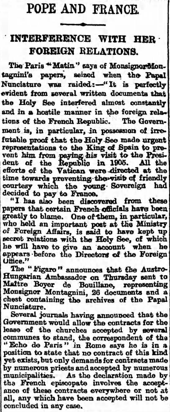 Paul Boyer de Bouillane — The Guardian (London, Greater London, England) Saturday, March 02, 1907. -