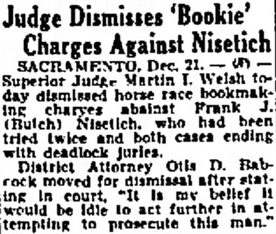 Butch bookie charges -
