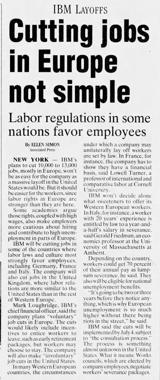 Lowell Turner, expert quoted labor article, Press & Sun