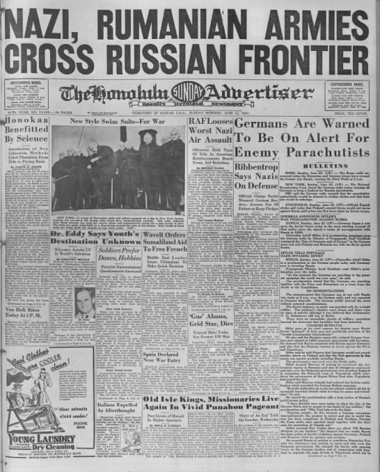 Image result for invasion russia honolulu newspaper