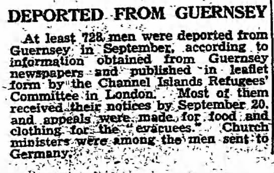 728 men reported as deported from Guernsey, 1942 -