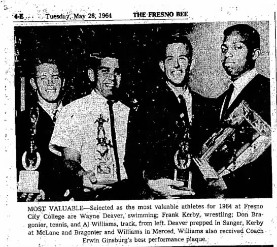 Wayne Deaver Most Valuable athletes 1964 -