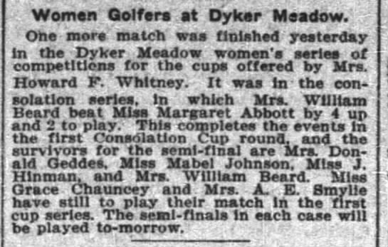 Grace Lester Maxwell likes to play golf...as does Mrs. Howard Whitney; they are relatives -
