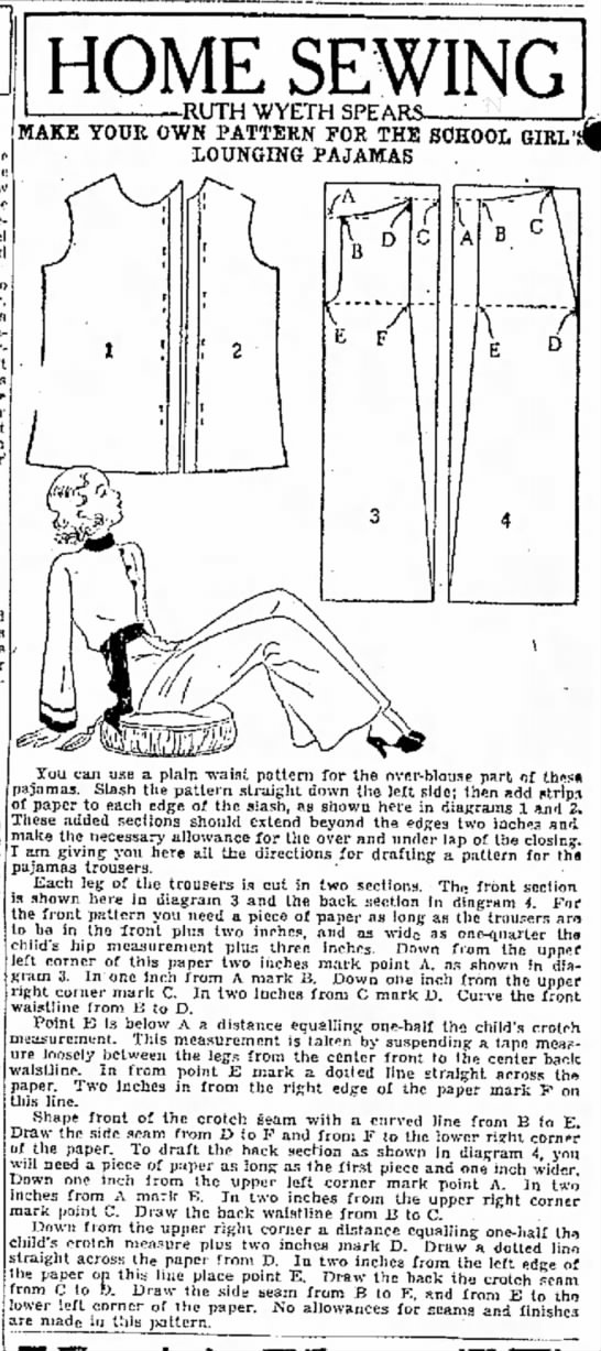 13 sept 1933 lounging pj -