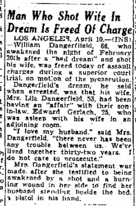 DANGERFIELD, William H - article -