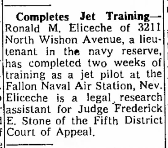 Lt. Ron Eliceche, US Navy Reserve - s e d o Wants to free you to your Completes Jet...
