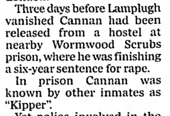 """Cannan released from hostel days before disappearance, also known as """"Kipper"""" -"""
