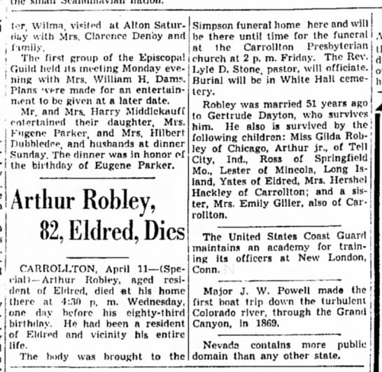 Arthur Robley, Sr. obit-p.8-Alton Evening Telegraph-11 April 1940 - Simpson funeral home here and will I be there...