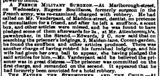 Eugène Bouillane - The Observer (London, Greater London, England) Monday, August 19, 1861 - Page 4 -