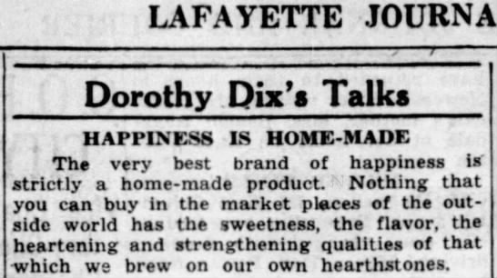 """Happiness is homemade"" (1938). -"