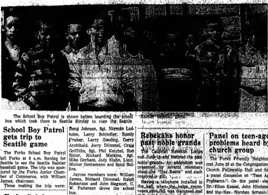Michor goes to Seattle Rainier's game1 Jul 1959PA Evening News -