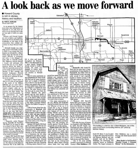 History of Howard County, Indiana -