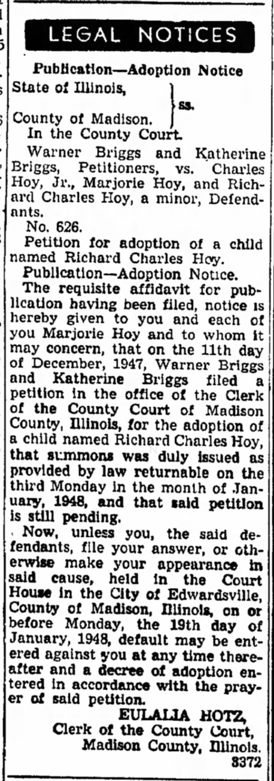 adoption notices -