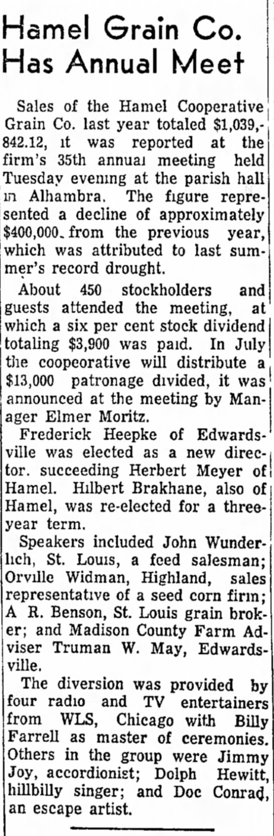 The Edwardsville Intelligencer, Edwardsville, Illinois 2 March 1955 -