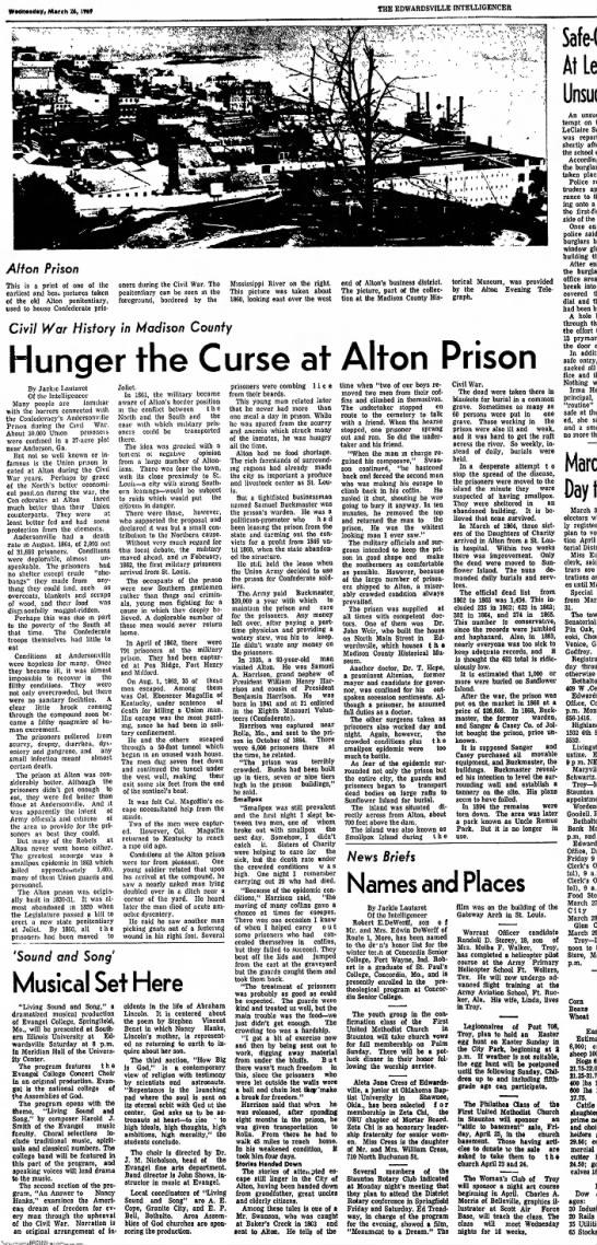 Hunger a Curse at Alton Prison -
