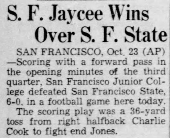 SF Jaycee Wins Over SF State -